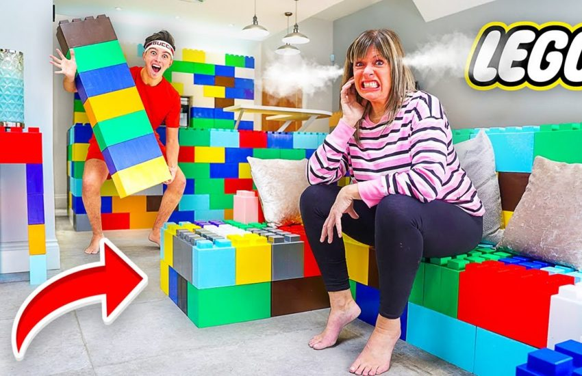 I Replaced EVERYTHING In Mom's House with LEGOS - Prank Morgz Mum