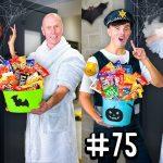 10 WAYS TO GET MORE HALLOWEEN CANDY! - Morgz Halloween Challenge