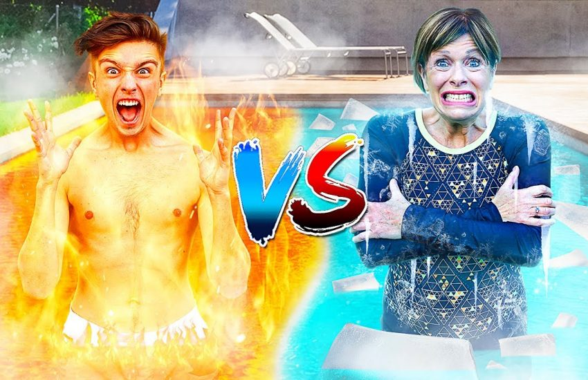 Last To Leave HOT vs COLD Pool - Morgz Challenge