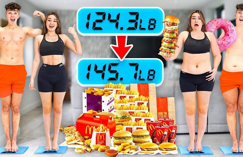 Who can GAIN the MOST WEIGHT in 1 Hour - Morgz Challenge