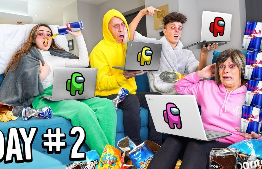 Last To Stop Playing AMONG US Wins $10,000 - Morgz Challenge