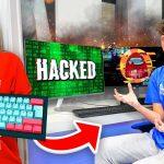 Wireless Keyboard Prank HACK on Morgz Playing Among Us...
