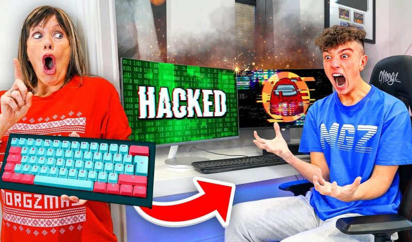 Wireless Keyboard Prank HACK on Morgz Playing Among Us...